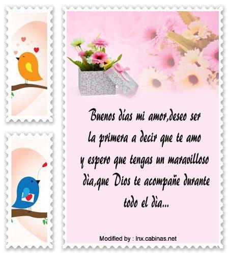 Tiernos Mensajes De Buenos Dias Para Un Amor Frases De Buenos Dias
