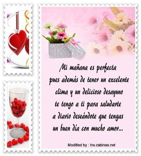 Tiernos Mensajes De Buenos Días Para Un Amor Frases De Buenos Días