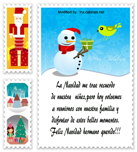 mensajes para enviar en Navidad para mi hermano, poemas para enviar en Navidad para mi hermano