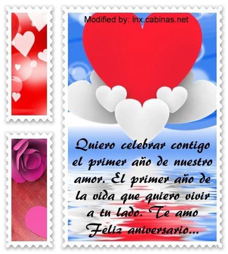 Mensajes de amor para aniversario de novios | Frases de