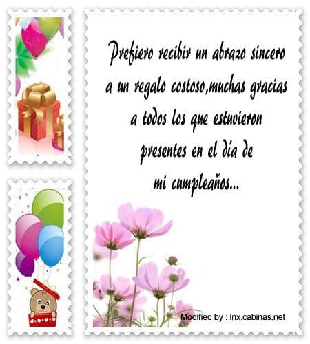 frases de agradecimiento de cumpleaños para compartir,mensajes bonitos de agradecimiento de cumpleaños