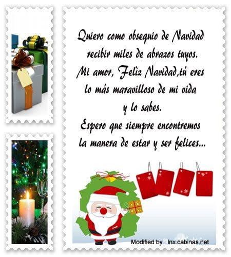 Carta de feliz navidad para mi novio