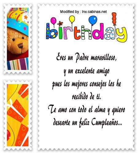 Nuevos Mensajes De Feliz Cumpleaños Para Papá Saludos De