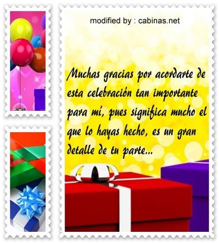 palabras de agradecimiento por cumpleaños,nuevos sms de agradecimiento por saludos de cumpleaños