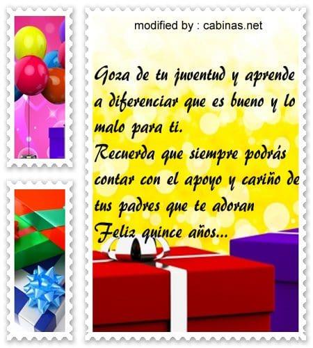 Palabras para felicitar una quinceañera por su cumpleaños