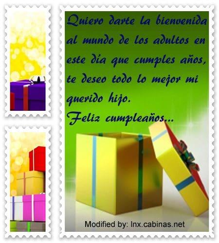Lindos Mensajes De Cumpleaños Para Un Joven Quinceañero Con