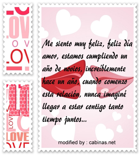 Bellas frases de amor por primer aniversario con imgenes  Solo