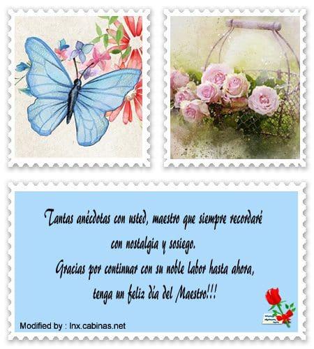 Mensajes Bonitos Para El Día Del Maestro Saludos Por El