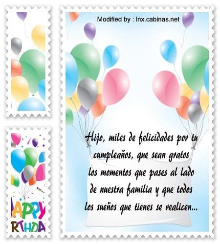 Lindos Mensajes De Cumpleaños Para Un Hijo | Saludos De