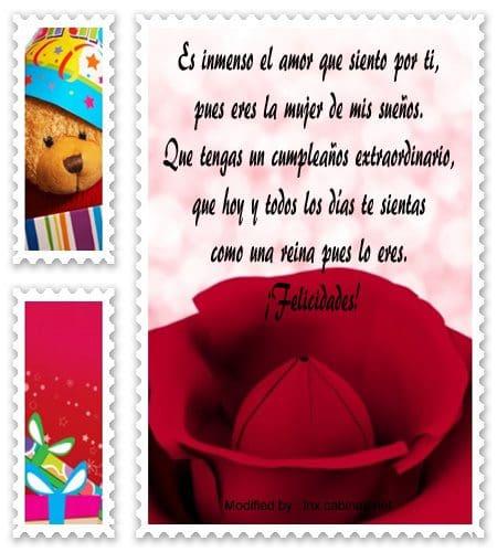 Lindos Mensajes De Cumpleaños Para Mi Esposa | Saludos De ...